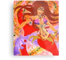 Sexy Bellydancing Mermaid Ruby Metal Print