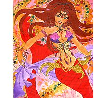 Sexy Bellydancing Mermaid Ruby Photographic Print