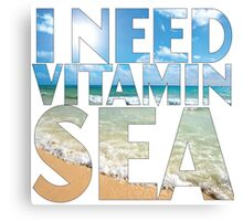 Vitamin Sea Canvas Print