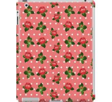 Vintage Red Rose iPad Case/Skin