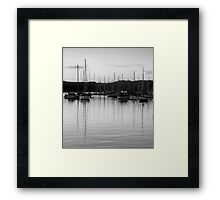 Monochrome Reflections - Newport, Sydney - The HDR Experience Framed Print
