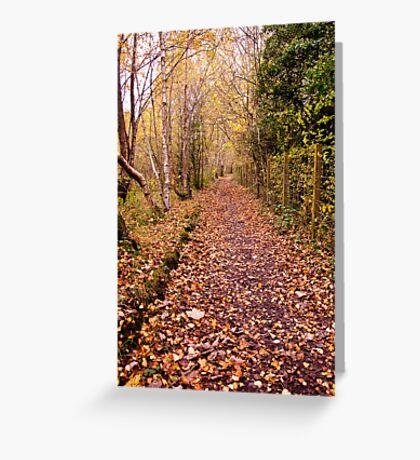 Autumn Footpath Greeting Card