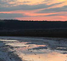 Sunset on the Beach at Holkham by YorkshireMonkey
