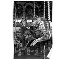 Carousel in Black and White Poster