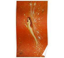 Orange Faerie Poster