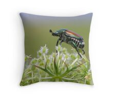 Beetle On Top Of The World Throw Pillow