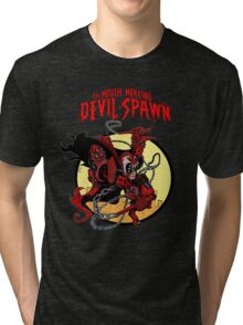 The Mouth Mercing Devil-Spawn Tri-blend T-Shirt