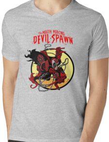 The Mouth Mercing Devil-Spawn Mens V-Neck T-Shirt