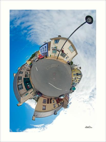 Kilcar Main Street - Sky Out by George Row