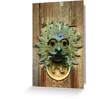 The Sanctuary Knocker, Durham Cathedral Greeting Card