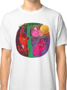 doodle animals hanging out Classic T-Shirt