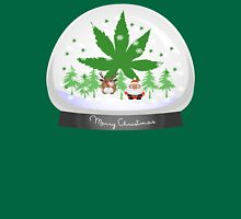 Merry Christmas Marijuana Snow Globe T-Shirt