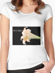 Easter Lily Women's Fitted Scoop T-Shirt