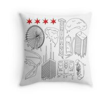 Drippy City Throw Pillow