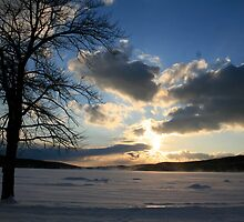 Sunset in Snow by patti4glory