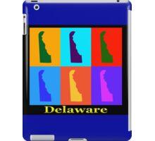 Colorful Delaware State Pop Art Map iPad Case/Skin