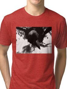 Barbie Attacked by Giant Monsterbird Tri-blend T-Shirt