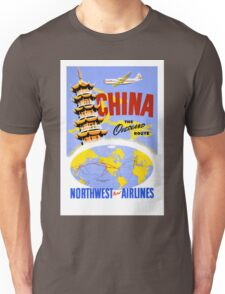China Vintage Travel Poster Restored Unisex T-Shirt