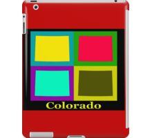 Colorful Colorado State Pop Art Map iPad Case/Skin