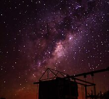 The bright Milky Way as seen on a Free State farm, South Africa. by Qnita