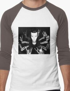 Mandy the Giant Head and her Minions Men's Baseball ¾ T-Shirt