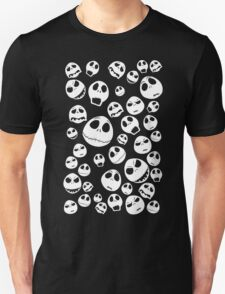 Halloween Ghost emoticon face pattern T-Shirt