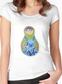 Minions matryoshka Women's Fitted Scoop T-Shirt