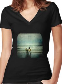Surfer Dudes - TTV Women's Fitted V-Neck T-Shirt