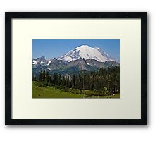 Mt. Rainier from Chinook Pass Framed Print