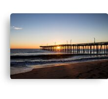Virginia Beach Fishing Pier Morning Canvas Print