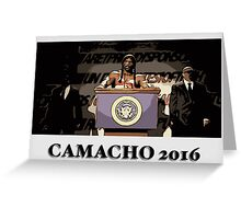 President Camacho Greeting Card