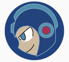 Mega Man Head by bananadumbledor