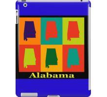 Colorful Alabama State Pop Art Map iPad Case/Skin