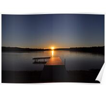Sunset over Bear Creek Lake Poster