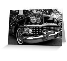 Black 1958 Buick Limited Greeting Card
