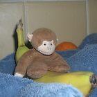 Monkey on a 'banana' boat 2 by Allan  George