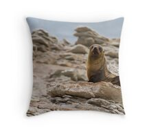 New Zealand Fur Seal Throw Pillow