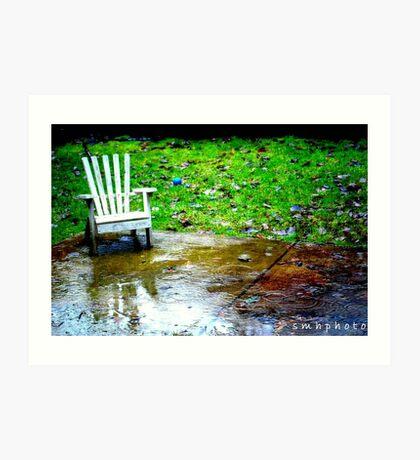 waitin' in the rain Art Print