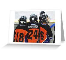 hockey pals Greeting Card