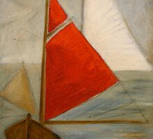 Red sail by Michele Meister