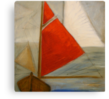 Red sail Canvas Print