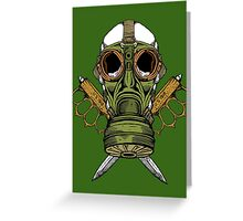 Gas Mask and Trench Knife  Greeting Card