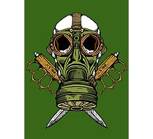 Gas Mask and Trench Knife  Photographic Print