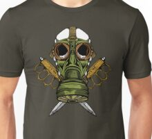 Gas Mask and Trench Knife  Unisex T-Shirt