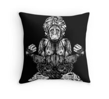 Swami Chimp Throw Pillow