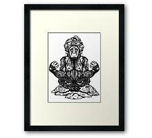 Swami Chimp Framed Print
