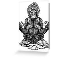 Swami Chimp Greeting Card