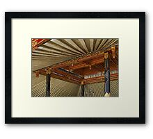 Radial Gold, Beautiful Palace Architecture, Indonesia Framed Print