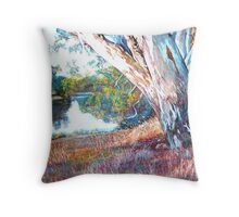 The Swing Tree Throw Pillow