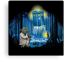 Let the Tardis be with You Canvas Print